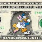 DONALD & DAISY Duck on REAL Dollar Bill Disney Cash Money Memorabilia Collectible Mint