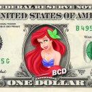 ARIEL Mermaid Princess Disney on REAL Dollar Bill Disney Cash Money Memorabilia
