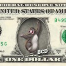 BALOO Jungle Book on REAL Dollar Bill Disney Cash Money Memorabilia Collectible