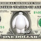 BAYMAX Big hero 6 on REAL Dollar Bill Disney Cash Money Memorabilia Collectible