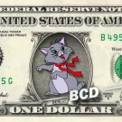 BERLIOZ Aristocats on REAL Dollar Bill Disney Cash Money Memorabilia Collectible