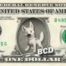 BOLT Dog on REAL Dollar Bill Disney Cash Money Memorabilia Collectible Celebrity