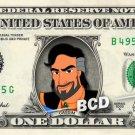 CASSIM - Aladdin on REAL Dollar Bill Disney Cash Money Memorabilia Collectible