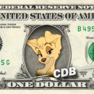 ANGEL - Lady & Tramp on REAL Dollar Bill Disney Cash Money Memorabilia