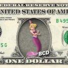 ANDRINA - Little Mermaid on REAL Dollar Bill Disney Cash Money Memorabilia