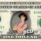 ALADDIN on REAL Dollar Bill Disney Cash Money Memorabilia Collectible Celebrity