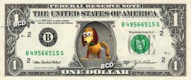Slinky Toy Story on REAL Dollar Bill Disney Cash Money Memorabilia Collectible