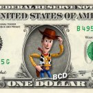 WOODY Toy Story on REAL Dollar Bill Disney Cash Money Memorabilia Collectible