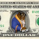BEAST - Beauty and on REAL Dollar Bill Disney Cash Money Memorabilia Collectible