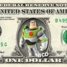 BUZZ LIGHTYEAR Toy Story on REAL Dollar Bill Disney Cash Money Memorabilia