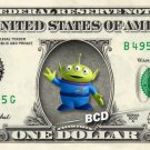 Alien Toy Story on REAL Dollar Bill Disney Cash Money Memorabilia Collectible