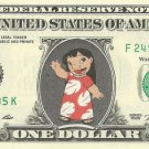 Lilo - Lilo & Stitch on REAL Dollar Bill Disney Cash Money Memorabilia