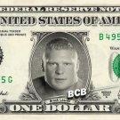BROCK LESNER on REAL Dollar Bill WWE Wrestler Cash Money Memorabilia Celebrity Bank