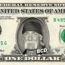 HULK HOGAN on REAL Dollar Bill WWE Wrestler Cash Money Memorabilia Celebrity Bank