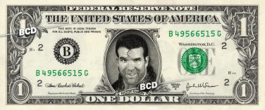 RAZOR RAMON on REAL Dollar Bill WWE Wrestler Cash Money Memorabilia Celebrity Bank