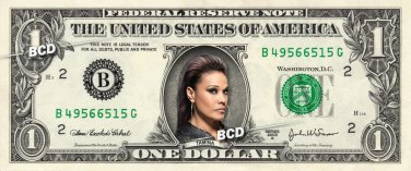 TAMINA on REAL Dollar Bill WWE Wrestler Cash Money Memorabilia Celebrity Bank