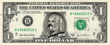 TENSAI on REAL Dollar Bill WWE Wrestler Cash Money Memorabilia Celebrity Bank