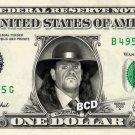 UNDERTAKER on REAL Dollar Bill WWE Wrestler Cash Money Memorabilia Celebrity Bank