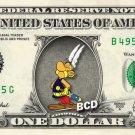 ASTERIX on REAL Dollar Bill Disney Cash Money Memorabilia Collectible Celebrity Bank Note