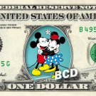 MICKEY & MINNIE MOUSE on REAL Dollar Bill Disney Cash Money Memorabilia