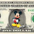 MICKEY MOUSE on REAL Dollar Bill Disney Cash Money Memorabilia Collectible #2