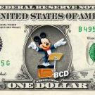 MICKEY MOUSE Conductor on REAL Dollar Bill Disney Cash Money Memorabilia