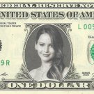 JENNIFER LAWRENCE Mockingjay Hunger Games on REAL Dollar Bill Cash Money