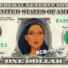 POCOHANTUS on REAL Dollar Bill Disney Cash Money Memorabilia Collectible Celebrity