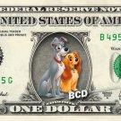 LADY & THE TRAMP on REAL Dollar Bill Disney Cash Money Memorabilia Collectible 2