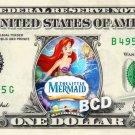 LITTLE MERMAID Movie REAL Dollar Bill Disney Cash Money Memorabilia Collectible