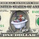 LOCK SHOCK BARREL - REAL Dollar Bill Disney Cash Money Memorabilia Collectible