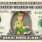 PETER PAN - REAL Dollar Bill Disney Cash Money Memorabilia Collectible Celebrity