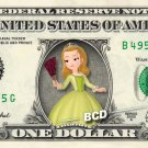 PRINCESS AMBER Sofia the First on REAL Dollar Bill Disney Cash Money Memorabilia