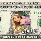 RAPUNZEL Tangled on REAL Dollar Bill Disney Cash Money Memorabilia Collectible