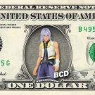 RIKU Kingdom Hearts on REAL Dollar Bill Disney Cash Money Memorabilia Bank Note