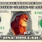 SIMBA - Lion King - REAL Dollar Bill Disney Cash Money Memorabilia Collectible