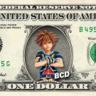 SORA - Kingdom Hearts - REAL Dollar Bill Disney Cash Money Memorabilia Bank Note