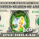 TINKERBELL Movie - REAL Dollar Bill Disney Cash Money Memorabilia Collectible