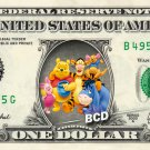 WINNIE POOH & FRIENDS REAL Dollar Bill Disney Cash Money Memorabilia Collectible