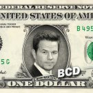 MARK WAHLBERG on REAL Dollar Bill Cash Money Memorabilia Collectible Celebrity