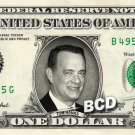 TOM HANKS on REAL Dollar Bill Cash Money Memorabilia Collectible Celebrity Bank