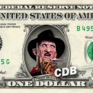FREDDY KRUEGER Nightmare on Elm Street on REAL Dollar Bill Robert Englund Cash