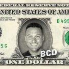 DEREK JETER on a REAL Dollar Bill  New York Yankees MLB Cash Money Memorabilia