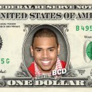CHRIS BROWN on a REAL Dollar Bill Cash Money Memorabilia Collectible Celebrity