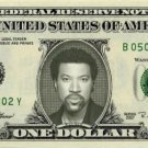 LIONEL RICHIE on REAL Dollar Bill Collectible Celebrity Cash Memorabilia Money