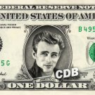 JAMES DEAN on REAL Dollar Bill Collectible Celebrity Cash Memorabilia Money Bank