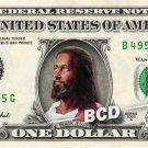 BLACK JESUS on a REAL Dollar Bill Cash Money Memorabilia Collectible Celebrity