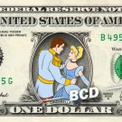 CINDERELLA PRINCE CHARMING on a REAL Dollar Bill Disney Cash Money Memorabilia