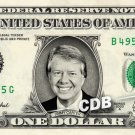 JIMMY CARTER on REAL Dollar Bill Cash Money Memorabilia Collectible Celebrity Bank