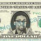 SPIKE LEE on REAL Dollar Bill Cash Money Memorabilia Collectible Celebrity Bank